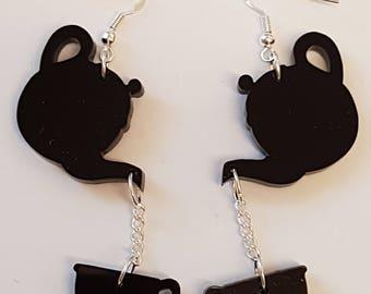 Time for Tea Earrings - Acrylic