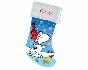 Personalized Snoopy Christmas Stocking