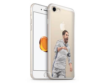 Sergio Ramos Phone Case - Transparent Case - Clear Case - iPhone 8 - iPhone 7 Plus - iPhone 7 - iPhone X - Football Case - Real Madrid