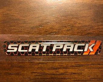 Scat Pack Steering Wheel Badge In Go Mango