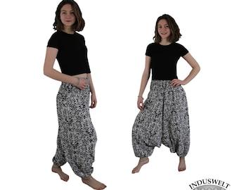 Harem Pant/ Yoga Pant/ Hippie trouser  black and white