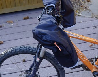 Winter bicycle pogies - smaller size for kids or narrower bars
