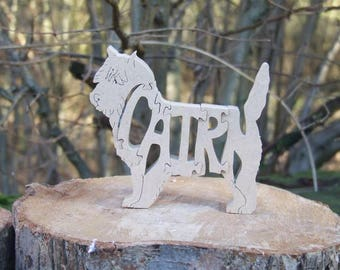 Cairn terrier dog jigsaw