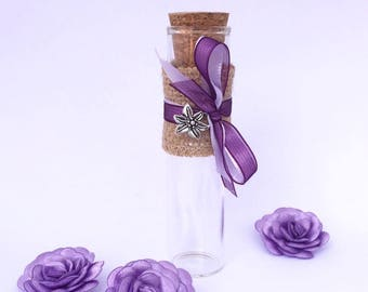 tube favors for rustic wedding