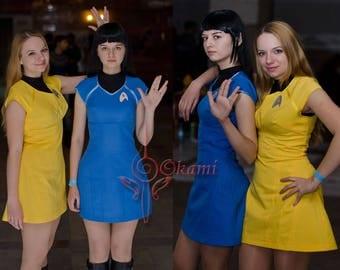 Ready to ship - Star Trek (2009 film) female uniform - cosplay costume