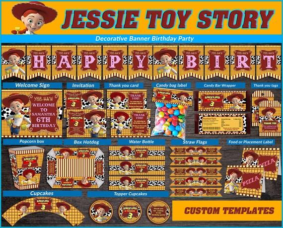 Jessie Toy Story Printable Party Kit Cowgirl Birthday