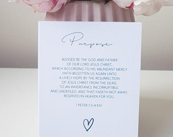 Luxury Linen Bible Verse Cards Pack