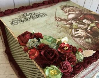 Handmade gift box, handmade wedding box, handmade christmas box, shabby chic box