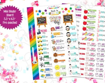 Back to School Planner Stickers! (BS153ab) For your Erin Condren, Limelife, Happy Planner, Inkwell Press, or other planner or calendar
