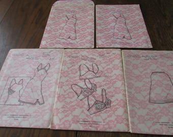5 Vintage Lingerie Patterns Slip Bra Sewing Pattern