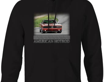 American Hotrod Dodge Charger R/T Muscle Car Track Hooded Sweatshirt- 5052