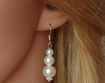 Sale Ivory Pearl Earrings Bridesmaid Earrings Bridesmaid Gift Pearl Earrings Pearl Drop Earrings Bridal Earrings Wedding Jewelry Christmas G