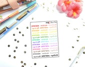 Mamas Minis - Typography Important | Planner Stickers | Perfect for any planner | Travelers Notebooks