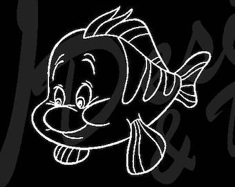 Flounder Decal