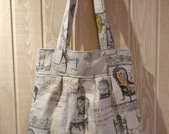 tote bag Tote pleated fabric jacquard woven style chairs