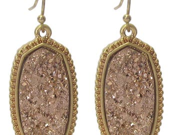 Druzy Earrings Gold/Rose Gold