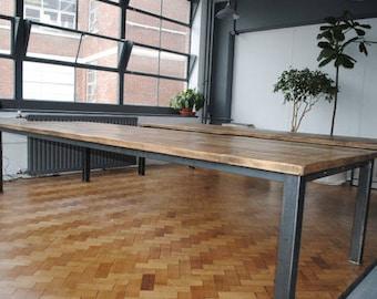 Industrial Metal Straight leg Office Suite