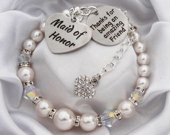 Maid of Honor amazing friend Wedding bracelet Maid of Honor Maid of honor jewelry maid of honor gift gift for maid of honor sister gift