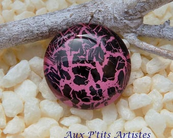 hand painted cabochon glass 18 mm