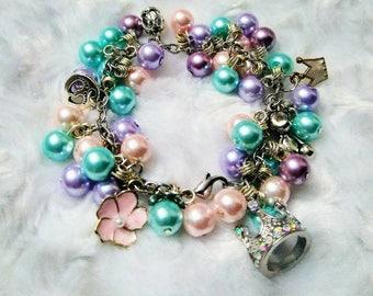Toddler pretty princess charm bracelet