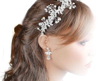 Bridal Hair Vine, Wedding Hair Vine, Hair Jewellery, Bo Ho Hair Vine, Woodlands  Hair Vine, Hair Vinbes For Browns, Wedding Accessories
