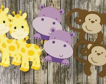 Safari Zoo Animals Cupcake Toppers, Safari Cupcake Toppers, Animal Cupcake Toppers, cupcake toppers