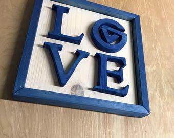 GVSU Love Grand Valley University Wood Sign