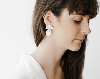 Statement Ceramic Earrings. Summer Earrings.