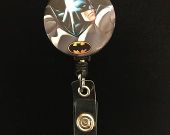 The Batman pose-Nurse Retractable ID Badge Reel/ RN Badge Holder/Doctor Badge Reel/Nurse Badge Holder/Nursing Student Gifts