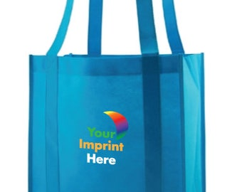 100 Custom Grocery Tote Bags - Full Color