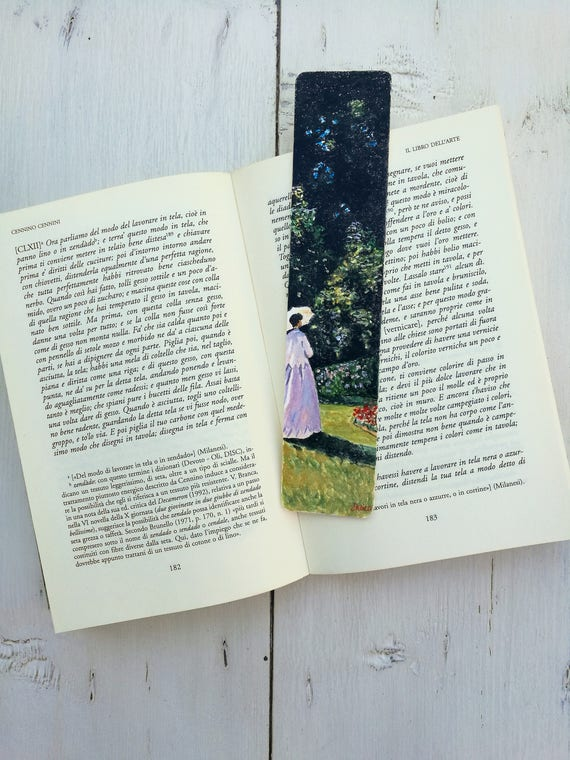 Bookmark Watercolor, handmade, paper bookmarks, custom bookmarks, wedding favors-Impressinisti #4