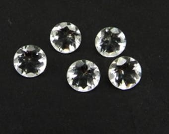 Lot Of 10 Piece Natural white Topaz round cut faceted Calibrated loose gemstone with free shipping