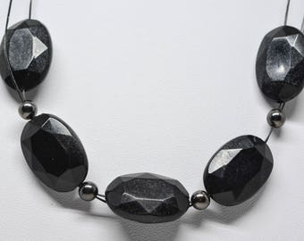 Black tone beaded necklace