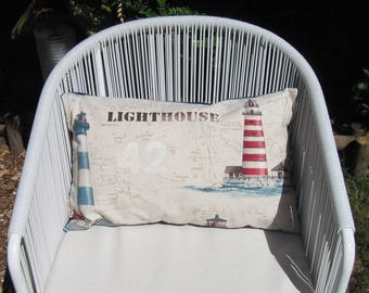 "30x50 cm (12""x20"") Lighthouse Pillow Cover, Throw Pillow, Marine Decoration, Nautical decoration, Cushion, house warming, Sea-Life decor"