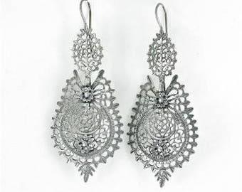 Queen Earrings | Portuguese Queen Earrings|  Minho| Portugal|Filigree