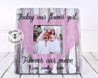 ON SALE Gift for Niece, Today Our Flower Girl Forever Our Niece, Thank You Gift, Flower Girl Gift, Flower Girl Niece, Wedding Flower Girl Th