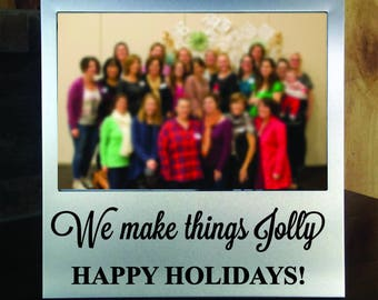 We Make Things Jolly Silver Picture Frame