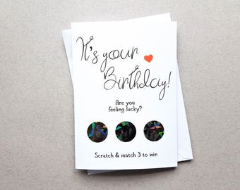 Rude Scratch Off Birthday Card, Boyfriend Birthday Card, Naughty Card, Rude Card, Naughty, Husband Card, Dirty Birthday Card, Girlfriend