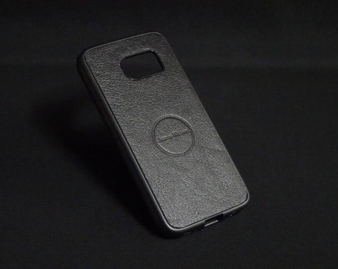 Jimmy Case - Fits Samsung Galaxy S7 - Black - Kangaroo leather - Handmade - James Watson