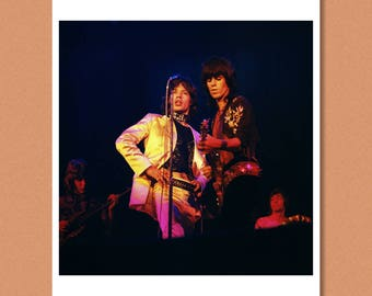THE ROLLING STONES - 'The Glimmer Twins', Copenhagen, 1970 --- Mick Jagger, Keith Richards --- Giclée/Photo print