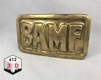 BAMF Belt Buckle - Overwatch Inspired - McCree