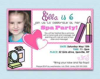 PAMPER or SPA Party Invite
