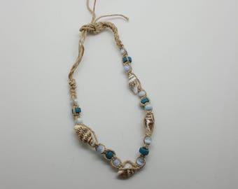 Beachy hemp anklet, bracelet  (HAN001)