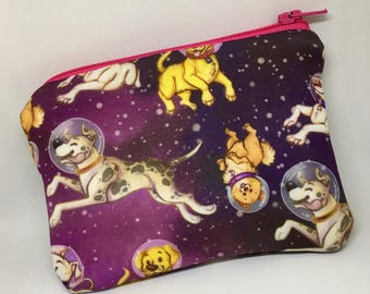 Space Dog Coin Purse Small Pouch