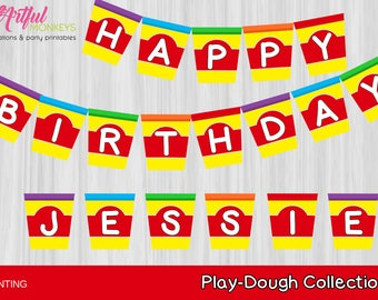 Printable Party Banner Bunting     Personalized