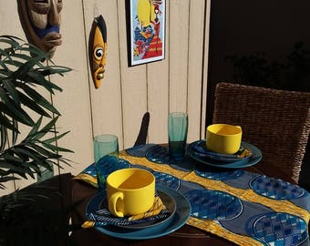 Blue and Yellow Table Runner