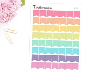 Mini flags stickers For Erin Condren Life Planner, EC Horizontal or any other Planner // Item #120