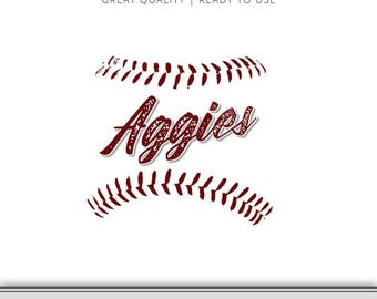 Texas A&M Graphic - Aggies - Aggie SVG - Aggies Baseball SVG - 7 Files Total - Digital Download - Ready to Use - Gig'em!