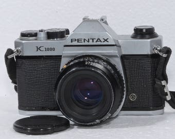 Pentax K1000 35mm Film Camera Student Bundle with 50mm f/2 lens Photography Art Photo