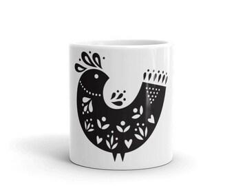 Folk Art Bird Mug